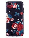 iphone 7 플러스 6 플러스 6s se 5s 5 케이스 커버 꽃 패턴 릴리프 뒷면 커버 부드러운 tpu