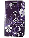 For Samsung Galaxy A5 2017 A3 2017 Case Cover Purple Orchid Body Cover with Card and Booth A3 2016 A5 2016 A3 A5