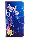 아이폰 7plus 7 전화 케이스 pu 가죽 소재 노란색 나비 패턴 페인트 전화 케이스 6s 플러스 6plus 6s 6 se 5s 5