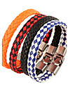 Men\'s Leather Bracelet Jewelry Natural Fashion Leather Alloy Irregular Jewelry For Special Occasion Gift Sports