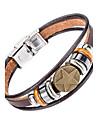 Homme Bracelets en cuir Bijoux Naturel Mode Cuir Alliage Bijoux Pour Occasion speciale Sports