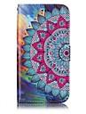 Para samsung galaxy a3 a5 (2017) capa de capa metade padrao de flor relevo de brilho cartao de material de cartao capa de telefone de