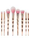 10pcs Pro Diamond Shape Cosmetic Makeup Brush Set Powder Eyeshadow Brush Rainbow Golden Kit
