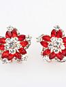 Women\'s Couple\'s Stud Earrings Hoop Earrings Imitation Diamond Basic Vintage Personalized Cute Style Euramerican Costume Jewelry Sexy