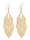 Mulheres Brincos Compridos Joias Pingente Estilo Boemio Estilo simples Elegant bijuterias Moda Vintage Prata Chapeada Chapeado Dourado