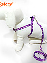 Nylon Printing Pet Cat Dog Traction Rope Adjustable For Dog Harness Pet Leash