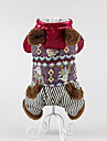 Dog Coat Dog Clothes Casual/Daily Keep Warm Stripe Red Green Black
