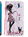 For Samsung Galaxy A5 A3 2017 Case Cover Card Holder Wallet with Stand Flip Pattern Full Body Case With Stylus Sexy Lady Hard PU Leather A5 A3 2016