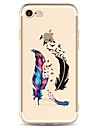 For Apple iPhone 7 7 Plus 6S 6 Plus Case Cover Feathers Pattern Painted High Penetration TPU Material Soft Case Phone Case