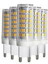 9W LED Bi-pin 조명 T 88 SMD 2835 750-850 lm 따뜻한 화이트 차가운 화이트 내추럴 화이트 밝기조절가능 V 5개
