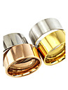 Basic Classic Stainless Steel Couple Rings  Tube Jewelry For Gift Daily Casual Valentine
