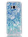 For Samsung Galaxy S8 S8 Plus Blue and white Pattern Relief Varnish does Not Fade TPU Material Phone Case S7 S7 Edge S6 S5