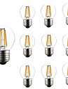 10pcs dimmable g45 4w conduit lumiere de filament e27 eponge en caoutchouc lumiere lampe de table ac220-240v