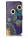 For Samsung Galaxy  S8 Plus S8 Case Cover Card Holder Wallet Embossed Pattern Full Body Case Owl Hard PU Leather for S7 edge S7 S6 edge S6
