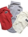Dog Shirt / T-Shirt Dog Clothes Casual/Daily Solid White Gray Ruby Blushing Pink