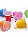 Travel Mug / Cup / Water Bottle Foldable Travel Drink & Eat Ware for Foldable Travel Drink & Eat Ware Silica Gel-Yellow Ruby Green Blue