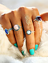 4pcs/Set Fashion Simple Gem Multicolor Punk Knuckle Midi Ring Sets for Women New Arrival Romantic Vintage Turkish Crystal Stone Ring Jewelry