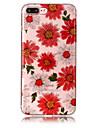 Para iPhone X iPhone 8 Case Tampa IMD Estampada Capa Traseira Capinha Glitter Brilhante Flor Macia PUT para Apple iPhone X iPhone 8 Plus