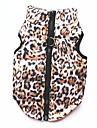 고양이 강아지 코트 티셔츠 맨투맨 스웻티셔츠 조끼 강아지 의류 파티 캐쥬얼/데일리 따뜻함 유지 스포츠 레오파드 표범