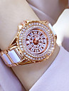 Women\'s Dress Watch Fashion Pave Watch Wrist Bracelet Watch Unique Creative Watch Casual Watch Simulated Diamond Watch Rose Gold Watch