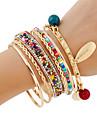 Femme Bracelets Rigides Bracelets Bracelets de rive Strass Fait a la main bijoux de fantaisie Mode Boheme Alliage de metal Couleur