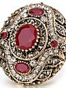 Women\'s Statement Rings Ring Crystal Basic Unique Design Rhinestone Rhinestones Vintage Bohemian Personalized Euramerican Turkish Luxury