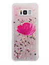 For Samsung Galaxy S8 Plus S8 Case Cover Flower Pattern Flash Powder Quicksand TPU Material Phone Case S7 edge S7 S6 edge S6 S5
