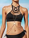 Bijuteria de Corpo/Cadeia corpo / Cadeia de barriga Colar harness Liga Resina Others Dupla camada Bikini Moda Sexy CrossoverDourado