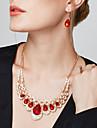 Набор украшений Серьги-слезки Заявление ожерелья Серьги Длинные ожерелья Мода европейский Elegant Pоскошные ювелирные изделияДрагоценный