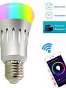 Ywxlight® 8w e27 led ampoules intelligentes a60 (a19) 22 smd 2835 600 lm rgb blanc wifi ac 85-265 v 1 pc