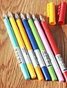 Гелевая ручка Ручка Гелевые ручки Ручка,Пластик бочка Синий Желтый Оранжевый Зеленый Случайный цвет Цвета чернил For Школьные