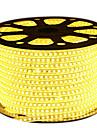 72W 유연한 LED 조명 스트립 6950-7150 lm AC220 V 5 m 600 LED가 웜 화이트 화이트 블루