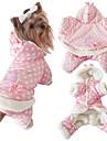 Chien Combinaison-pantalon Vetements pour Chien Decontracte / Quotidien Garder au chaud Pois Polka Beige Rose