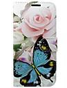 Etui pour samsung galaxy s8 s7 sacoche porte-carte portefeuille avec support flip pattern etui plein corps papillon pu dur cuir pour s6