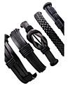 Men\'s Leather Bracelet Multi-ways Wear Costume Jewelry Adjustable Leather Irregular Jewelry For Club Street