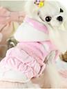 강아지 조끼 강아지 의류 캐쥬얼/데일리 프린세스 블루 핑크
