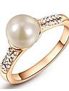 Femme Anneaux Cristal Perle imitee Basique Amour Mode Personnalise Le style mignon Bijoux de Luxe Classique Elegant bijoux de fantaisie
