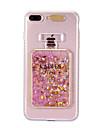 Назначение iPhone 8 iPhone 8 Plus Чехлы панели Движущаяся жидкость Мигающая LED подсветка С узором Задняя крышка Кейс для Сияние и блеск