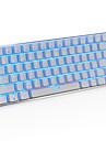 ajazz ak33 게임 키보드, 82 클래식 레이아웃 키, 투명 한 파란색 스위치