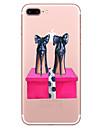 Para Apple iphone 7 7 mais capa de capa padrao de saltos altos pintado de alta penetracao material tpu caixa de telefone suave caso para