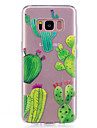 Case For Samsung Galaxy S8 S8 Plus Case Cover Cactus Pattern Painted High Penetration TPU Material IMD Process Soft Case Phone Case