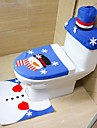 estilo aleatorio feliz natal e feliz ano novo melhor presente de natal&decoracoes de natal tapete de assento de banheiro