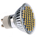 GU10 3528 smd 60-LED Varmvit 150-180lm glödlampa (230V, 3-3.5W)