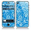 Blaue Blume Muster Vorder-und Rückseite Full Body Schutzfolie Sticker für iPhone 5