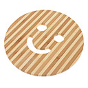 "6.5 ""Smile Face Pattern Bamboo Coaster"