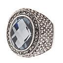 Schnittwinkel Perlen Oval Ring
