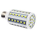 E27 10W 60x5050SMD 800-900LM 6000-6500K Natural White Light LED Corn Bulb (110/220V)