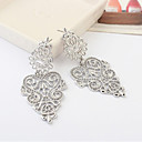 Heart Drop Earrings Jewelry Women Heart Party Daily Alloy Gold Silver