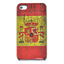 Vintage Spain Flag Pattern Hard Case for iPhone 4/4S