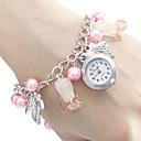 Women's Butterfly Style Alloy Analog Quartz Bracelet Watch (Multi-Color)